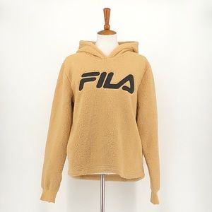 Fila Oatmeal Color Sherpa Pullover Hoodie